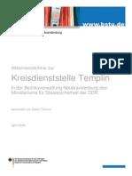 Aktenverzeichnis Kd Templin