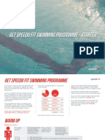 Get Speedo Fit Swimming Programme - Starter