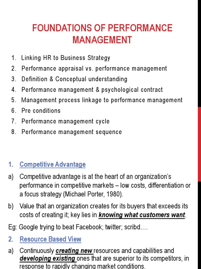foundations of performance management | performance management