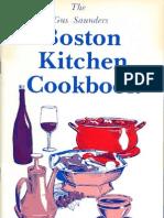 The Gus Saunders Boston Kitchen Cookbook Vol.X