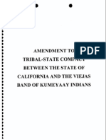 CA Compact With Viejas Band of Kumeyaay Tribe Amended