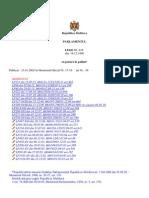 Legea RM Cu Privire La Politie