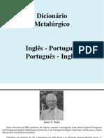 Dicionario metalurgico Inglês - Portugues