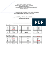Gabarito Preambular Apos Recursos prova MPDFT