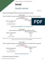 Ministério da Previdência Social – Tabela de contribuição mensal