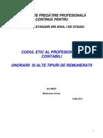 Codul Etic- Onorarii 2013 Document