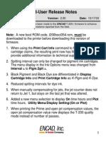 End-User Release Notes   encad T-200/T-200+