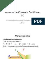 Motores de Corrente Contínua - CC