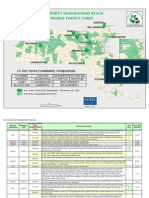 Map of Massachusetts Green Communities and grant project summaries