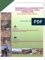 Environmental Database for Peenya Industrial Area Bangalore EMPRI 2008 12