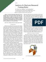 Kinematic Analysis of a Dual-Arm Humanoid