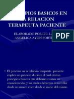 Principios Basicos en La Relacion Terapeuta Paciente