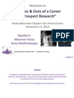 2013 Ins & Outs of a Career in Prospect Research