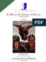 Livro de Horas - Arcanjos Miguel, Gabriel, Rafael