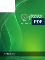 Estatuto Orgánico UNEMI 2013