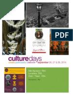 Days of Culture Community Program Calendar  [ In Prospect ]
