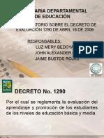 Decreto 1290 Sobre Evaluacion Sed 2009