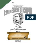 2014 Eminescu şi copiii ediţia a VII a
