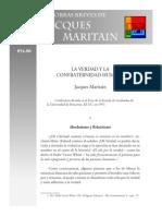 Maritain Jacques - La Verdad Y La Confraternidad Humana