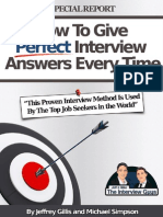 How to give perfect interview answers every time