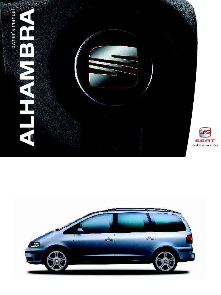 Seat Alhambra Users Manual Belt Airbag Onboard Electrical Power Generation For Ing Diagrams As Well Trailer Wiring Diagram On E46
