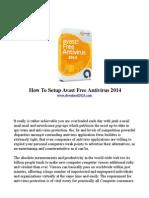 How to Setup Avast Free Antivirus 2014