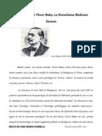 Contribuţia Lui Victor Babeş La Dezvoltarea Medicinei Dentare