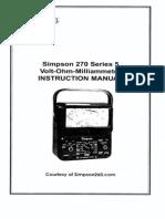 Simpson 270-5 User Manual-2002
