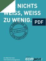 [DE] ECM Allianz Deutschland   ECM jetzt!   Broschüre 2009