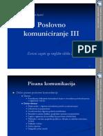 Poslovno Komuniciranje III