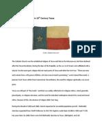 Religion in frontier Texas