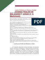 LAS ESCENAS FINALES DE MALAQUÍAS Y JUDAS