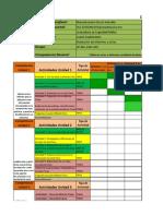 Calendario de Actividades de Redaccion de Informes y Actas