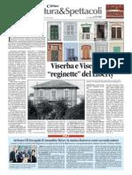 """13.1.2014,'Il valore aggiunto. Viserba e Viserbella """"reginette""""del Liberty', Corriere di Romagna"""