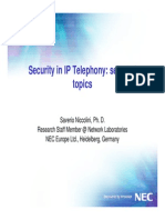 Security in IP Telephony