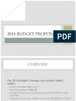 Mayor Eric Papenfuse's proposed 2014 budget