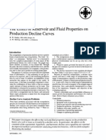 The Effect of Reservoir and Fluid Properties on Production Decline Curves