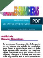 RAZONES FINANCIERAS 2013