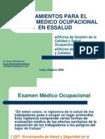 Lineamientos Para El Examen Medico Ocupacional en Essalud