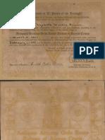 AMORC Rosicrucian Certificate (1943-1944)