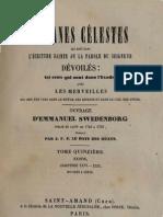 Em-Swedenborg-ARCANES-CELESTES-TomeQuinzième-1sur2-Exode-XXVI-XXVIII-Numeros-9585-9973-LeBoysDesGuays-1853