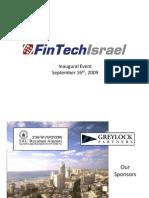 FinTechIsrael Inaugural 9.16.09