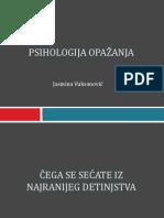 Psihologija opazanja UVOD