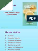 Marketing Research Module 4 Experimentation