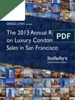 The 2013 Annual Report on Luxury Condominium Sales in San Francisco