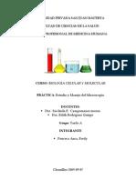 INFORME Estudio y Manejo Del Microscopio