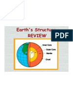 Earth's Structure REVIEW