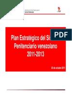 Plan Estrategico Sistema Penitenciario Venezolano 2011.2013