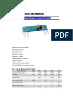 Modulo Rf -RX433N
