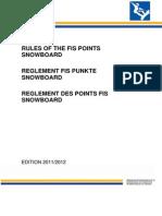Pontos Da FIS(Snowb)